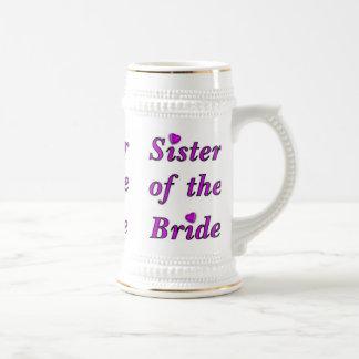 Sister of the Bride Simply Love Beer Stein