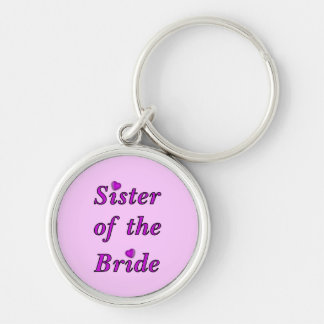 Sister of the Bride Simply Love Keychain