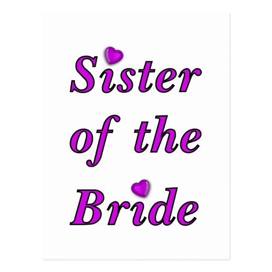 Sister of the Bride Simply Love Postcard