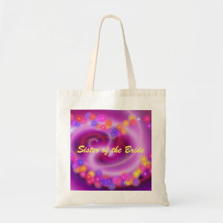 Sister of the Bride Swirly Heart Bag