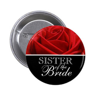Sister Of The Bride Wedding Buttons