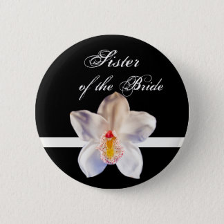 Sister Of The Bride  Wedding ID Badge Pinback Button