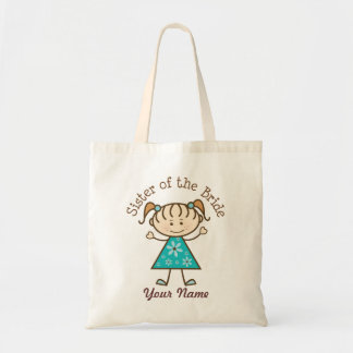Sister of the Bride Wedding Party Gift Tote Bag