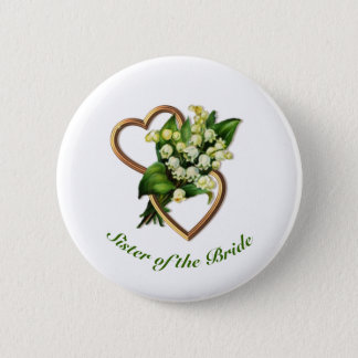 Sister of the Bride with Lilies and Heart Button