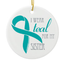 Sister - Ovarian Cancer Ornament
