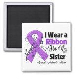 Sister - Pancreatic Cancer Ribbon Magnet