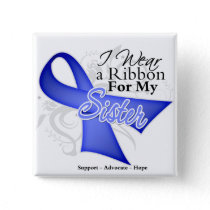 Sister Periwinkle Ribbon - Stomach Cancer Pinback Button