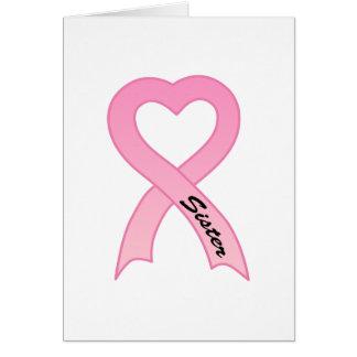 Sister Pink Ribbon Greeting Card