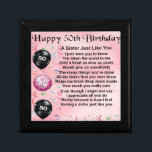 "sister poem - 50th birthday design gift box<br><div class=""desc"">A great gift for a sister on her 50th birthday.</div>"