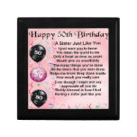 sister poem - 50th birthday design gift box<br><div class='desc'>A great gift for a sister on her 50th birthday.</div>