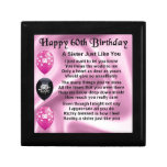 Sister poem  -  60th Birthday Jewelry Box<br><div class='desc'>A great gift for a sister on her 60th birthday</div>