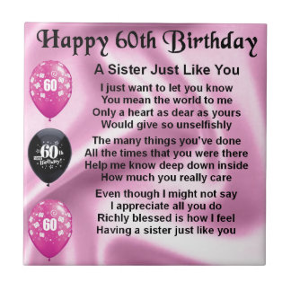 Sisters 60th Birthday Gifts on Zazzle