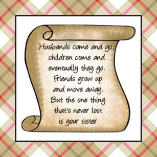 Poem For Sister Craft Supplies Zazzle