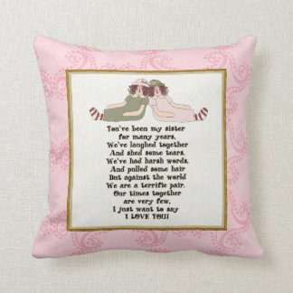 Sister Poem Pillow