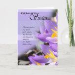"Sister purple crocus Birthday Card<br><div class=""desc"">Sister purple crocus Birthday Card</div>"