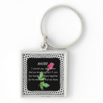 SISTER QUOTE KEYCHAIN