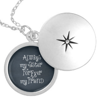 Sister Quote Locket Necklace
