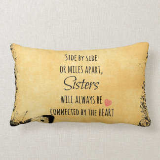 Sister Quote Lumbar Pillow