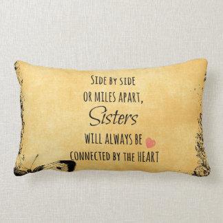 Sister Quote Lumbar Pillow