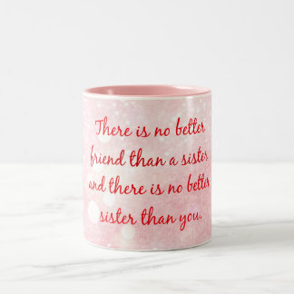 Sister Quote Two-Tone Coffee Mug