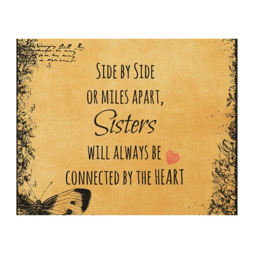 Wall Art Quotes For Sisters : Sister quote wood wall art zazzle