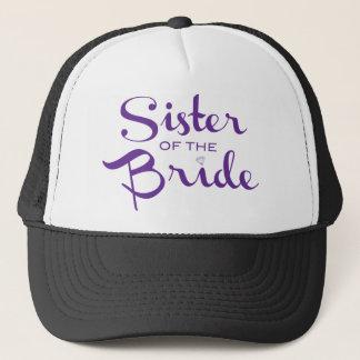 Sister Retro Script Purple Trucker Hat