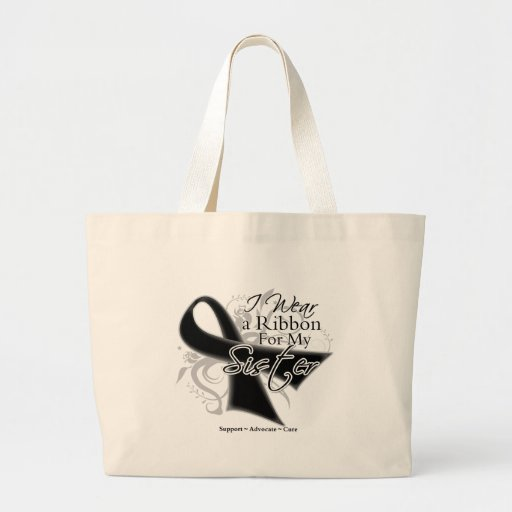 Sister Ribbon - Melanoma Skin Cancer Bags