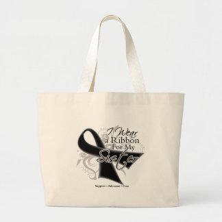 Sister Ribbon - Melanoma Skin Cancer Jumbo Tote Bag