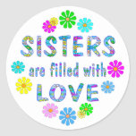 Sister Round Stickers
