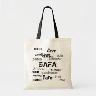 sister, SAFA, Pure, powerful, aunt, Love, peace... Tote Bag