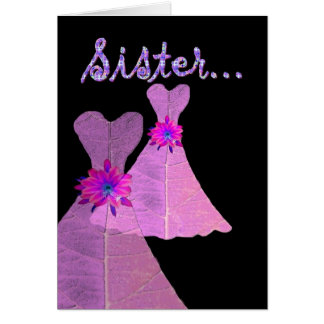 SISTER_ sea mi dama de honor menor - Tarjeta De Felicitación