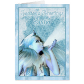 Sister Season's Greeting, The Frost Maiden Card