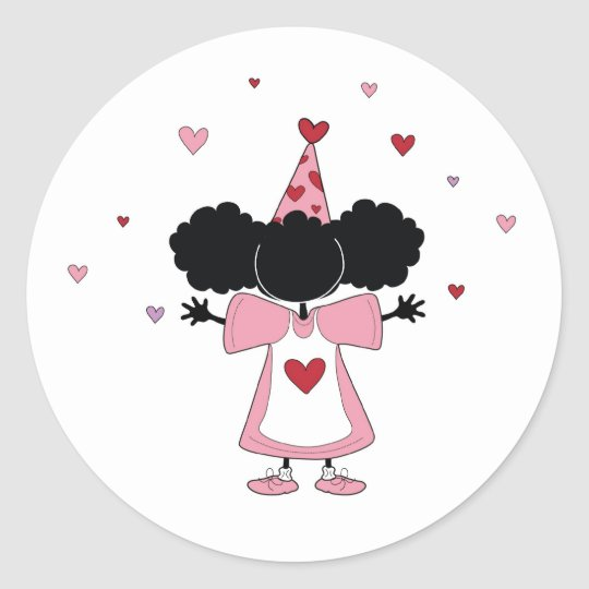 Sister-Sister Pink Party Girl Sticker
