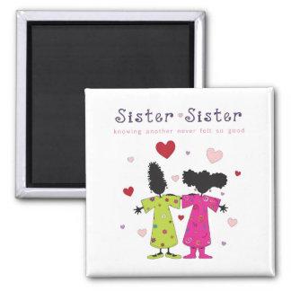 Sister-Sister Square Magnet