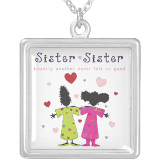 Sister-Sister Square Necklace