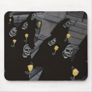Sister Skeletons Mouse Pad