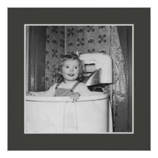 Sister Sue in the Tub Poster