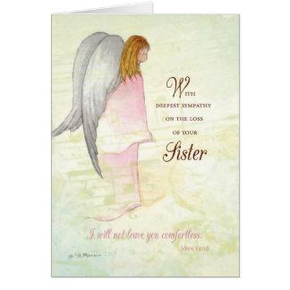 Sister Sympathy Angel Greeting Card