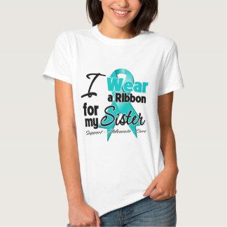 Sister - Teal Awareness Ribbon T-shirt