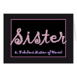 SISTER Thank You Matron of Honor - Plaid Lettering Card