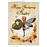Sister - Thanksgiving Card - Cute Little Pumpkin F