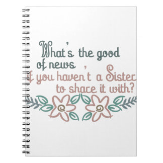 Sister to Share Notebook