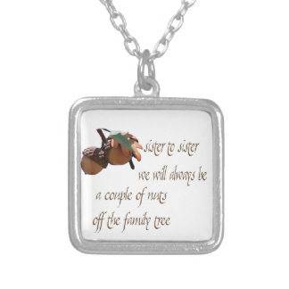 Sister to Sister We Will Allways Be Silver Plated Necklace