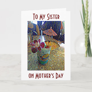 ***SISTER*** TO YOU ON **MOTHER'S DAY** CHEERS! CARD