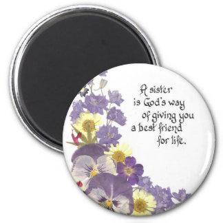 Sister tribute refrigerator magnet