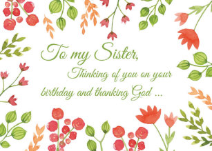 Sister Religious Birthday Cards