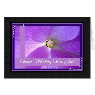 SISTER  Wedding Congratulations Greeting Card