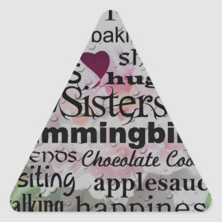 Sister Word Art Triangle Sticker