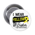 Sister Yellow Ribbon Endometriosis Buttons