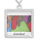 Sisterhood Square Pendant Necklace